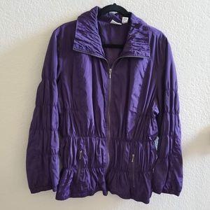 Zenergy Purple Zip Front Jacket